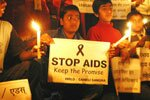 A candlelight march against HIV/AIDS discrimination